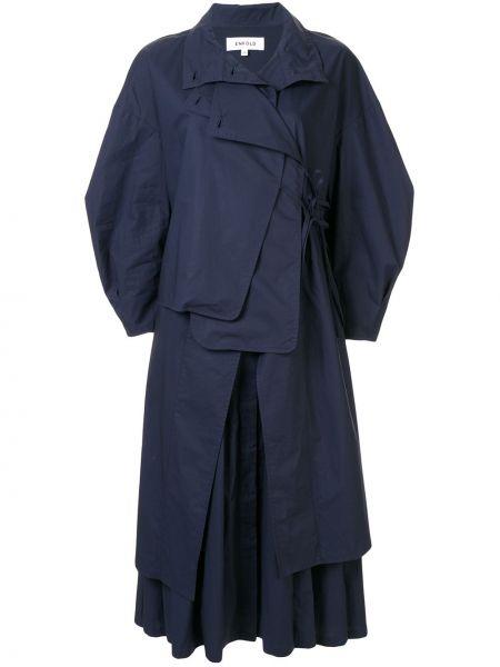 Sukienka midi z kołnierzem z guzikami Enfold