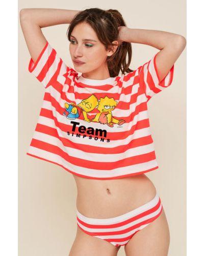 Рубашка с коротким рукавом свободного кроя пижамная Undiz