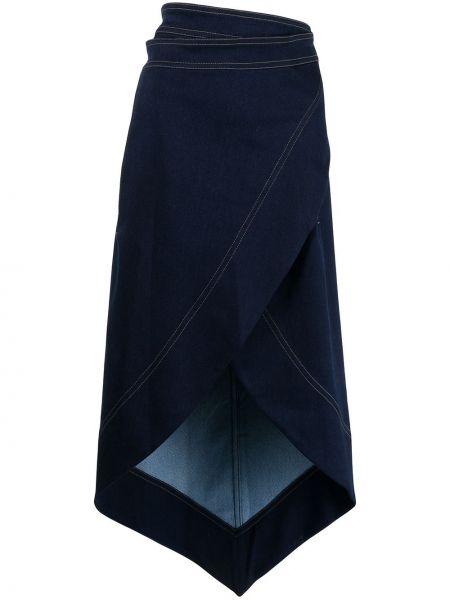 Джинсовая юбка макси - черная Bevza