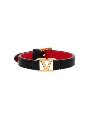 Czarna złota bransoletka klamry Valentino Garavani