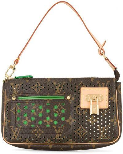 Brązowa złota kopertówka Louis Vuitton