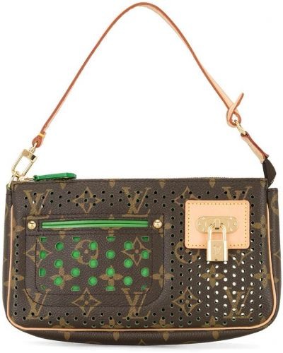 Złota kopertówka - zielona Louis Vuitton