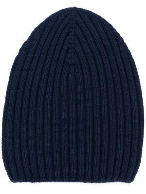 Klasyczna niebieska z kaszmiru czapka Barrie