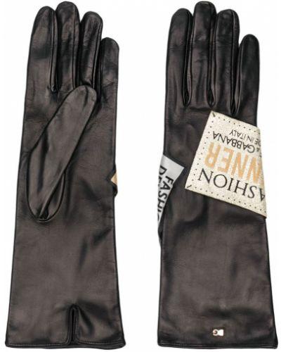 Перчатки тонкие черные Dolce & Gabbana