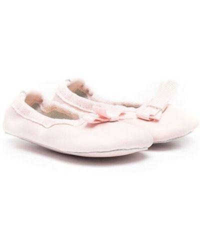 Różowe balerinki skorzane Gallucci Kids