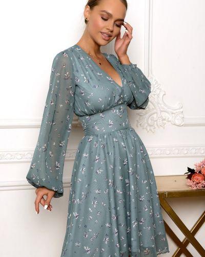 Повседневное шифоновое синее платье Open-style