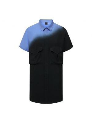 Рубашка из вискозы - синяя Y`s
