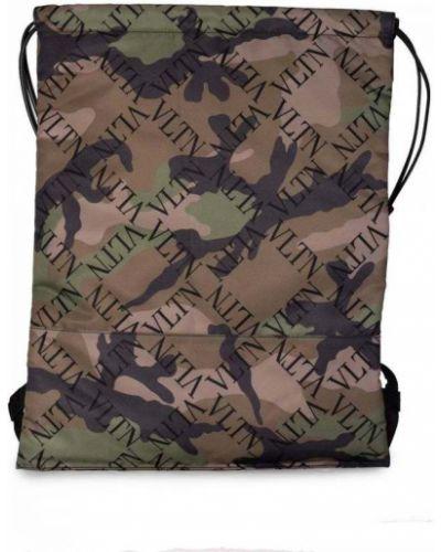 Zielony plecak w paski Valentino