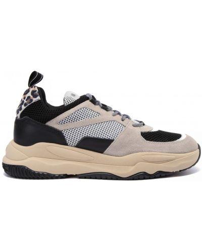 Кожаные белые кроссовки на шнуровке P448