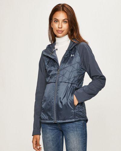 Прямая синяя нейлоновая куртка с капюшоном Under Armour