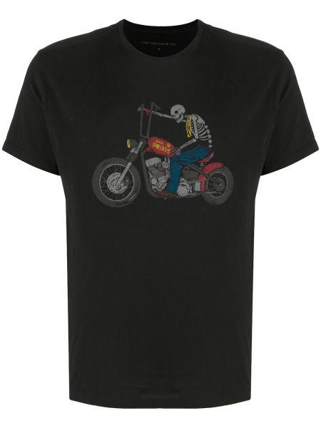 Koszula krótkie z krótkim rękawem prosto czarna John Varvatos
