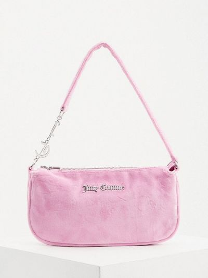 Бархатная сумка - розовая Juicy Couture