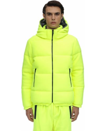 Żółta kurtka z kapturem z nylonu Lc23