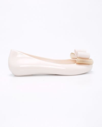 Бежевые балетки кожаные Zaxy