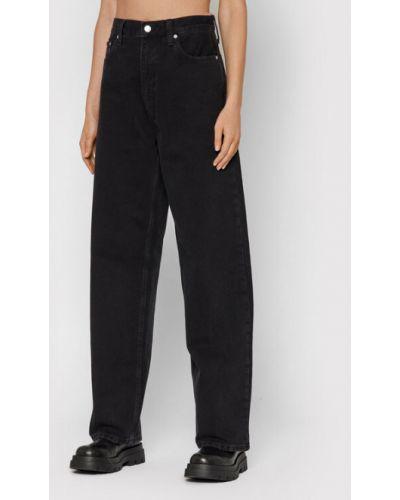 Mom jeans - czarne Calvin Klein Jeans