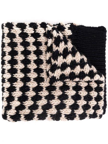 Trykotowy wełniany biały trykotowy szalik z obrazem Raf Simons