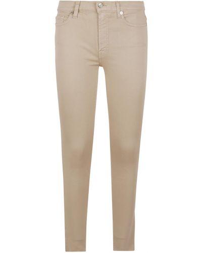 Spodnie rurki - beżowe 7 For All Mankind