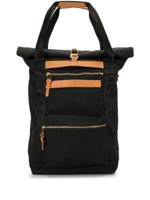 Нейлоновый черный рюкзак на бретелях с карманами As2ov