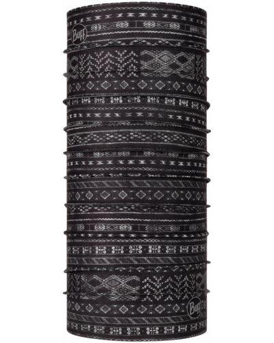 Czarny szalik bezszwowy materiałowy Buff