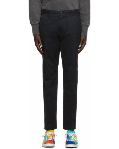 Czarne spodnie z paskiem bawełniane Aime Leon Dore