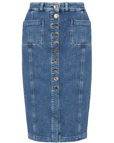 Spódnica jeansowa granatowa Pinko