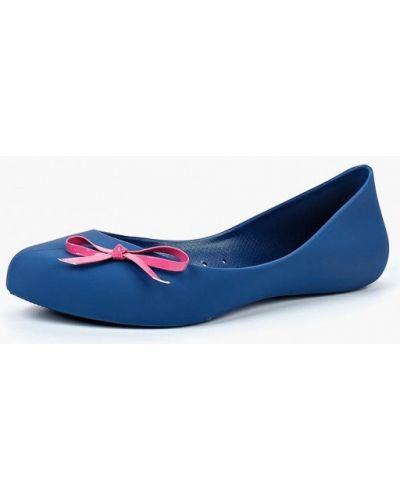 Синие балетки с острым носком Noos Icon