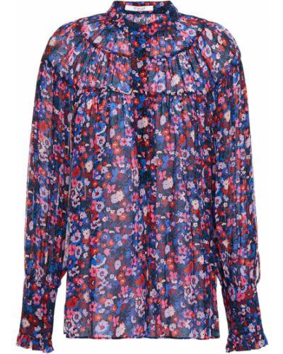 Плиссированная блузка из вискозы на пуговицах Derek Lam 10 Crosby