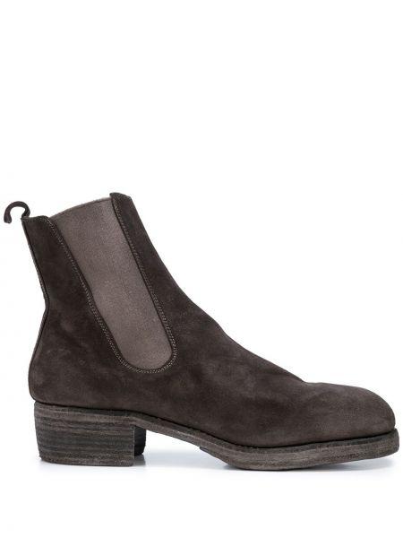 Buty skórzane brązowe chelsea Guidi