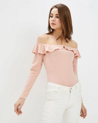Розовое боди блуза Glamorous