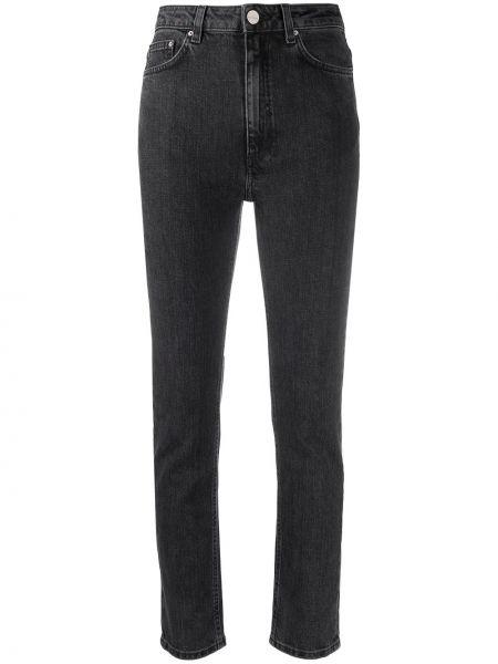 Klasyczne jeansy z wysokim stanem bawełniane Toteme
