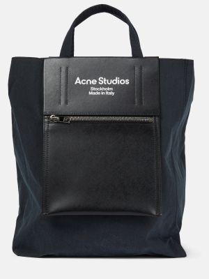 Czarna torba na ramię skórzana Acne Studios