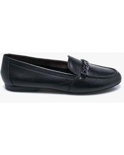 Черные кожаные мокасины Tamaris