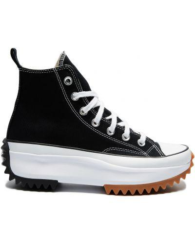 Черные кеды на платформе на каблуке Converse