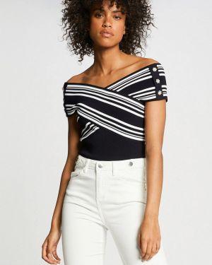 Блузка с открытыми плечами черная Morgan
