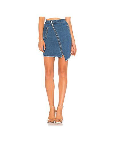 Джинсовая юбка на пуговицах асимметричная By The Way.