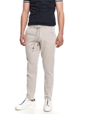 Spodnie bawełniane - beżowe Top Secret