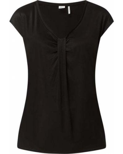 Koszulka w serek z dekoltem w serek - czarna S.oliver Black Label