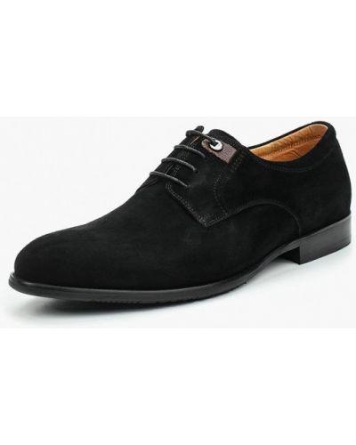 Туфли черные велюровые Rosconi