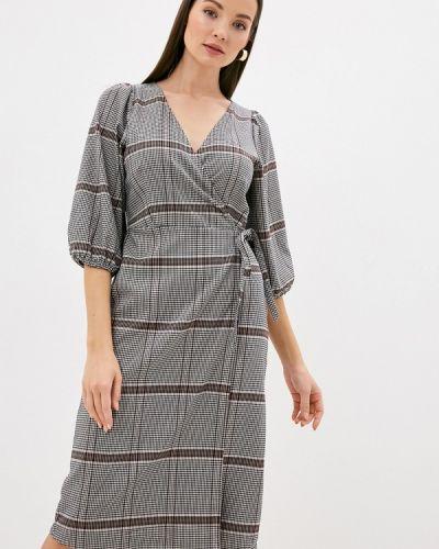 Серое платье с запахом Ichi