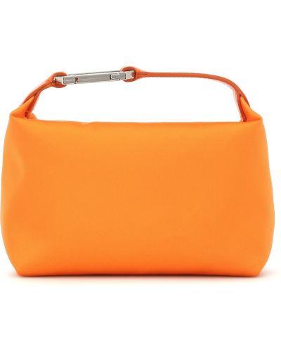 Pomarańczowa satynowa kopertówka Eã‰ra