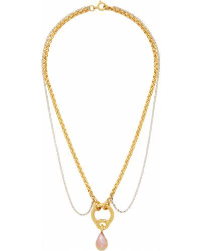Fioletowy złoty naszyjnik z pereł Charlotte Chesnais
