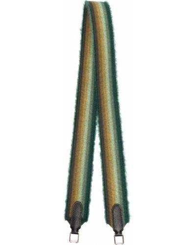 Żółta torebka srebrna Valextra