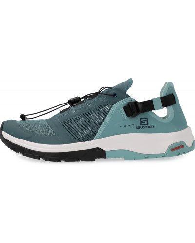 Серые ботинки на шнуровке Salomon