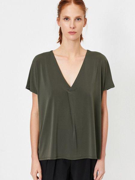 Рубашка с коротким рукавом хаки с лебяжьим пухом Koton