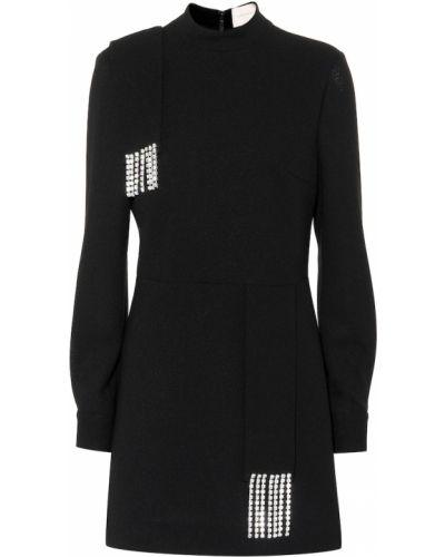 Wełniany czarny sukienka Christopher Kane