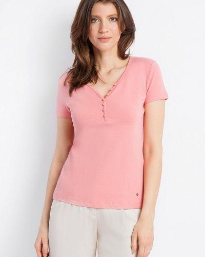 Розовая футболка свободная Finn Flare