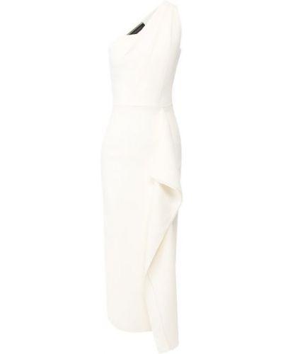 Шелковое платье - белое Roland Mouret