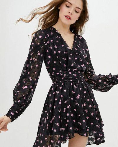 Черное платье с запахом Miss Sixty