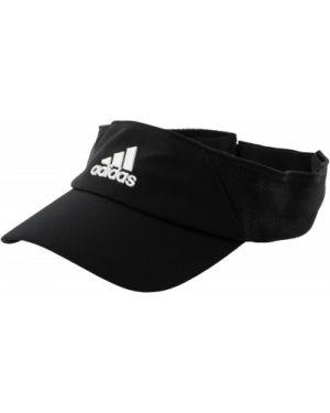 Теннисный кожаный черный спортивный козырек Adidas