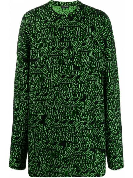 Sweter z dzianiny wełniany Balenciaga
